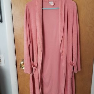Gilligan and O'Malley Womens S/M Robe Peach